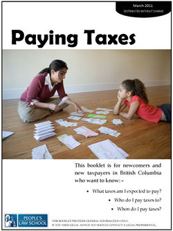Paying Taxes in BC - Clicklaw Wikibooks