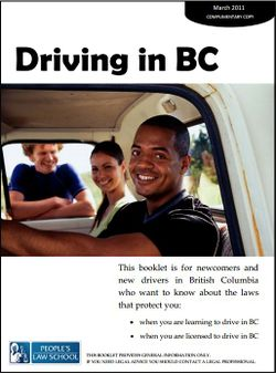 Cover of Driving in BC