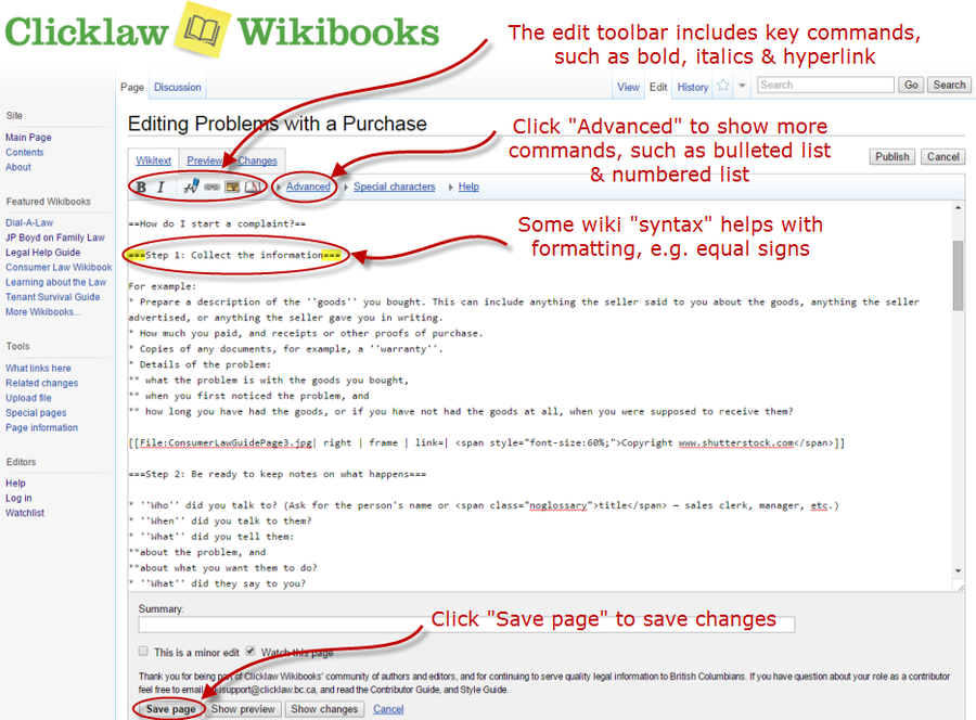Editing a page on the wiki 2.png