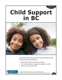Cover of Child Support in BC