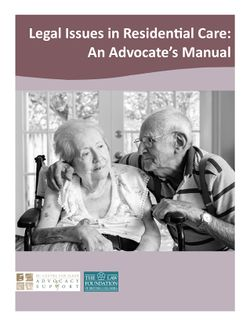 Cover of Legal Issues in Residential Care: An Advocate's Manual