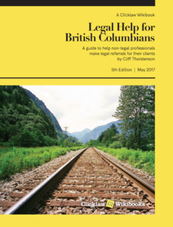 Cover of Legal Help for British Columbians