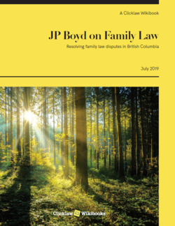Cover of JP Boyd on Family Law (print edition released May 29, 2013)