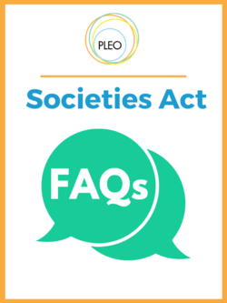 Cover of Societies Act FAQs