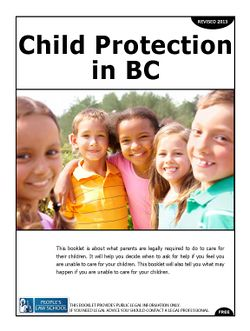 Cover of Child Protection in BC