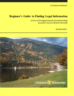 Cover of Beginner's Guide to Finding Legal Information